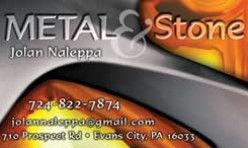 Metal & Stone Business Card